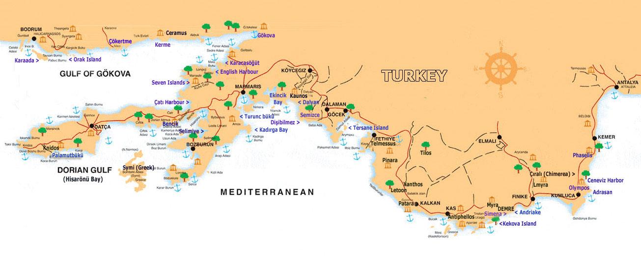 Fethiye Antalya Olimpos Blue Cruise Boat Trip